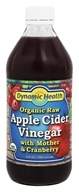 Dynamic Health - Organic Raw Apple Cider Vinegar with Mother and Cranberry - 16 oz.