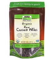NOW Foods - Organic Raw Cacao Nibs - 8 oz.