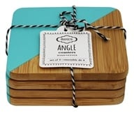 Danica Studio - Bamboo Dipped Angle Set Coasters - 4 Piece(s)