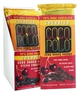 Coco Polo - 70% Dark Chocolate Vegan Bars Box Cherries - 10 Bars