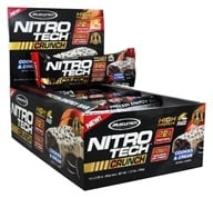 Muscletech Products - Nitro-Tech Crunch Bar Cookies & Cream - 12 Bars