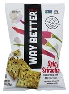 Way Better Snacks - Whole Grain Corn Tortilla Chips Spicy Sriracha - 1 oz.