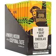Endangered Species - Dark Chocolate Bars Box 72% Cocoa - 12 Bars