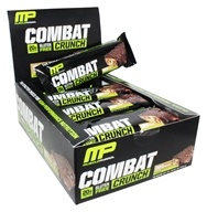 Muscle Pharm - Combat Crunch Bars Box Chocolate Peanut Butter - 12 Bars