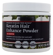 ResVitale - Keratin Hair Enhance Powder with Biotin - 2.75 oz.