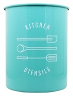 Now Designs - Utensil Crock Tin Turquoise