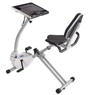 Stamina Products - Stamina 2-in-1 Recumbent Exercise Bike Workstation and Standing Desk