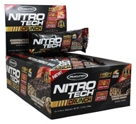 Muscletech Products - Nitro-Tech Crunch Bar Chocolate Chip Cookie Dough - 12 Bars