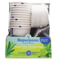Repurpose - Plant Based Insulated Hot Cups and Lids - 24 Morceaux