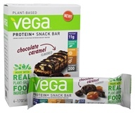 Vega - Protein+ Snack Bars Gluten Free Chocolate Caramel - 4 Count