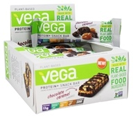 Vega - Protein+ Snack Bars Gluten Free Chocolate Caramel - 12 Count