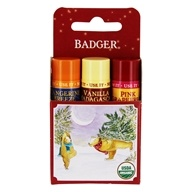 Badger - Organic Classic Holiday Lip Balm Red Box - 3 Pack