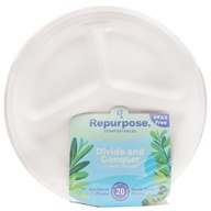 Repurpose - Plant Based Heavy Duty Sectional Plates 10 inch - 20 Count