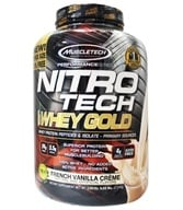 Muscletech Products - Nitro-Tech Performance Series 100% Whey Gold French Vanilla Creme - 6 lbs.