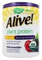 Nature's Way - Alive! Plant Protein Fruit Smoothie Berry Fusion - 15.5 oz.