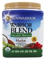Sunwarrior - Warrior Blend Plant-Based Organic Protein Mocha - 17.6 oz.