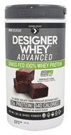 Designer Protein - Designer Whey Advanced Grass Fed 100% Whey Protein Chocolate Fudge - 1.85 lb.