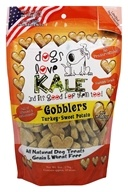 Dogs Love Kale - All Natural Dog Treats Gobblers Turkey and Sweet Potato - 6 oz.