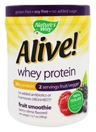Nature's Way - Alive! Whey Protein Fruit Smoothie Berry Creme - 13.7 oz.