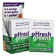 Phresh Products - pHresh greens Raw Alkalizing Superfood Powder Packets - 15 Packet(s)