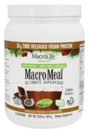 MacroLife Naturals - Macro Meal Ultimate Superfood Vegan Protein Chocolate - 23.8 oz.