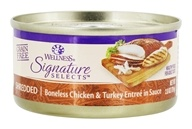 Wellness Pet - Signature Selects Cat Food Shredded White Meat Chicken and Turkey Entree in Sauce - 2.8 oz.