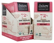 Salazon - Organic Chocolate Bars Box 72% Dark Chocolate with Sea Salt - 12 Bars