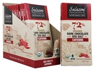 Salazon - Organic Dark Chocolate with Sea Salt & Cayenne - 12 Bars