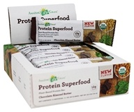 Amazing Grass - Organic Protein Superfood Bars Box Chocolate Almond Butter - 12 Bars