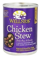 Wellness Pet - Canned Dog Food Chicken Stew with Peas and Carrots - 12.5 oz.
