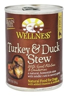 Wellness Pet - Canned Dog Food Turkey and Duck Stew with Sweet Potatoes and Cranberries - 12.5 oz.