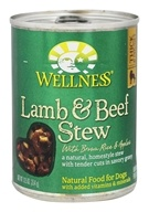 Wellness Pet - Canned Dog Food Lamb and Beef Stew with Brown Rice and Apples - 12.5 oz.