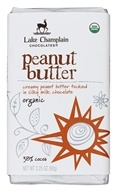 Lake Champlain Chocolates - Organic Milk Chocolate Bar Peanut Butter - 3.25 oz.