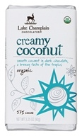 Lake Champlain Chocolates - Organic Dark Chocolate Bar Creamy Coconut - 3.25 oz.