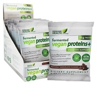 Genuine Health - Fermented Vegan Proteins+ Digestive Support Natural Chocolate - 15 Packet(s)