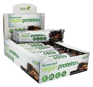 Genuine Health - Fermented Vegan Proteins+ Bar Dark Chocolate Almond - 12 Bars