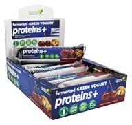 Genuine Health - Fermented Greek Yogurt Proteins+ Bar Cherry Almond Vanilla - 12 Bars