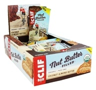Clif Bar - Organic Nut Butter Filled Energy Bar Coconut Almond Butter - 12 Bars