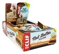 Clif Bar - Organic Nut Butter Filled Energy Bar Chocolate Hazelnut Butter - 12 Bars