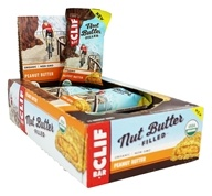 Clif Bar - Organic Nut Butter Filled Energy Bar Peanut Butter - 12 Bars