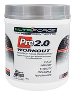 NutriForce Sports - Pre 2.0 Workout Pre-Workout Focus & Energy Support 25 Servings Strawberry Lemonade - 17.6 oz.
