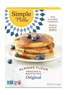 Simple Mills - Naturally Gluten-Free Pancake & Waffle Almond Flour Mix - 10.7 oz.