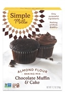 Simple Mills - Naturally Gluten-Free Almond Flour Mix Chocolate Muffin & Cake - 10.4 oz.