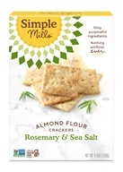Simple Mills - Naturally Gluten-Free Almond Flour Crackers Rosemary & Sea Salt - 4.25 oz.
