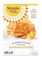 Simple Mills - Naturally Gluten-Free Almond Flour Crackers Farmhouse Cheddar - 4.25 oz.