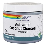 Solaray - Activated Coconut Charcoal Powder - 2.65 oz.