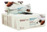 Think Products - thinkThin High Protein Fiber Bars Box Chocolate Almond Coconut - 10 Bars