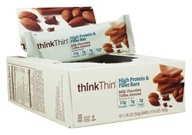 Think Products - thinkThin High Protein Fiber Bars Box Milk Chocolate Toffee Almond - 10 Bars