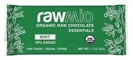 Rawmio - Organic Raw Chocolate Essentials Bar 70% Cacao Mint - 1.1 oz.