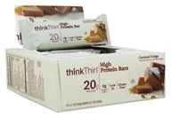 Think Products - thinkThin Protein Bars Box Caramel Fudge - 10 Bars